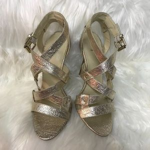 BAKERS GOLD HEELS